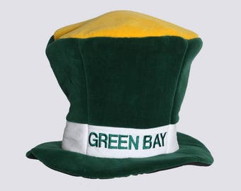 "Embroidered ""GREEN BAY PACKERS"" Uncle Sam Top Hat. Party Hat"