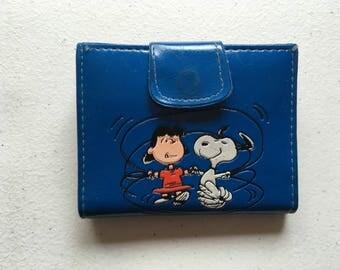 Snoopy Lucy Van Pelt Woodstock Vinyl Wallet 1958 Deadstock