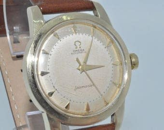 Omega Seamaster Bumper automatic 2577 gold plated 1954 Box and Papers