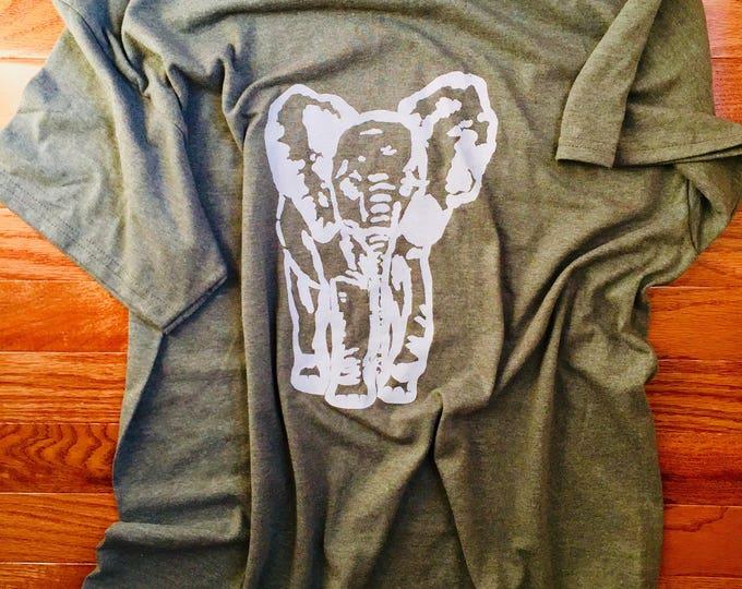 Army Green Elephant T-Shirt