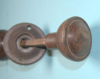 Art Deco bakelite door knobs for use with a rimlock