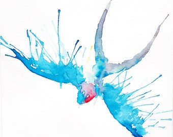 Swallow Watercolour Print