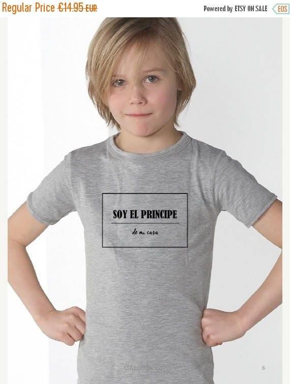 REBAJADO Boy grey t-shirt SOY EL Principe de mi casa
