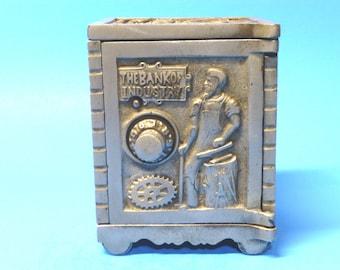 "Cast Iron ""Bank of Industry""  Still Bank  Kenton Toys 1903-1904"
