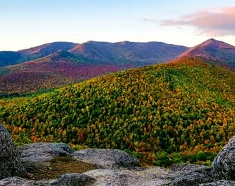 Adirondack Mountains, Autumn Photograph, Lake Placid, Landscape Print, Autumn Print, Adirondack Print, Nature Photography, Keene Valley