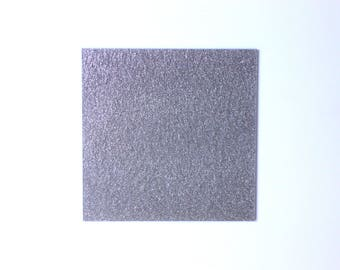 2mm thickness 600x370 mm Silver light glitter acrylic perspex sheet