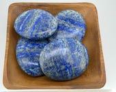 Lapis Lazuli Palm Stone - Throat chakra - Reiki -Energy Healing - Fifth Chakra