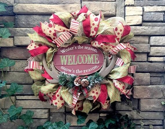 Christmas Wreath, Farmhouse Christmas, Christmas Home Decor, Cottage Christmas, Country Christmas, Christmas Decor, Christmas Gift, Wreaths