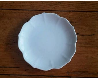 ON SALE White Lotus Flower Porcelain Oriental Appetizer Plate Dish Small - 12 Available