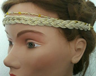 Headband woven braided cord
