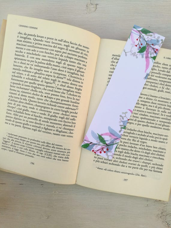 Bookmark Watercolor, handmade, paper bookmarks, custom bookmarks, wedding Favors-#3