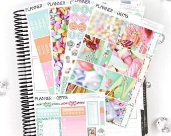 Sugar Rush Essential Weekly Planner Kit | 150+ Stickers | Planner Stickers | For Erin Condren LifePlanner