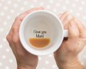 Mother's Day Mug, Gift For Mum, I Love You Mum Mug, coffee mug, I love you, Gift for Mum, Hidden Message Mug, Secret Message, mug, mugs,