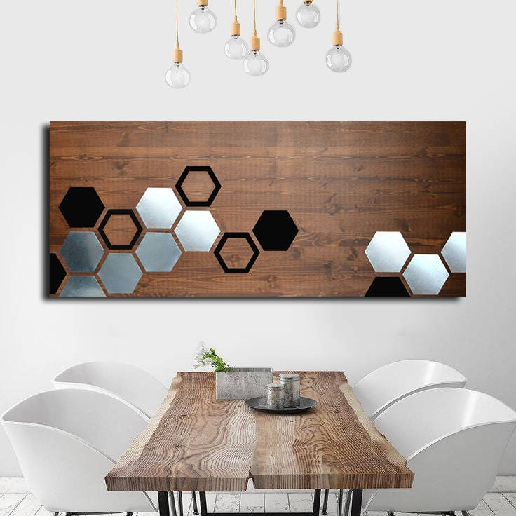 Metal Art Wall Decor Wood Wall Art Decor Painting Modern Art Home Metal