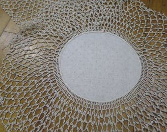 Pair Vintage Hand Worked Crochet Lace Doilies
