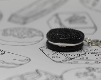 Classic Cream Filled Cookie Bracelet Charm/ Childhood Sweet Treat/ Fake Food/ Dessert