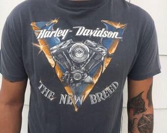 "Vintage Harley Davidson ""The new breed"" tee"