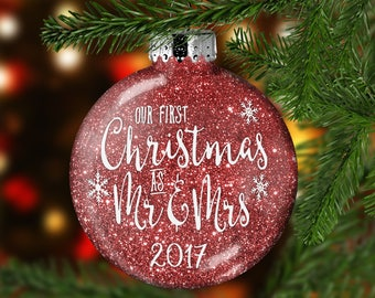 first married ornament first christmas married ornament gift