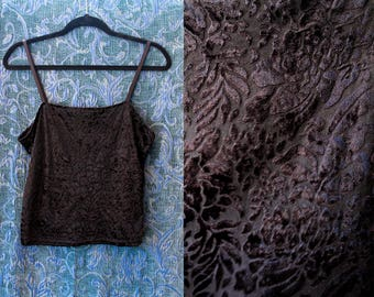 Black Velvet Burnout Tank Top