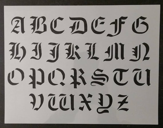 old english font letters olde font alphabet custom stencil fast free 13898 | il 570xN.1438700441 pyt7