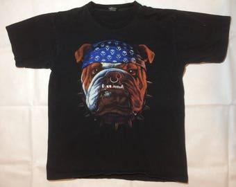 90s biker bulldog t shirt mens xl Harley Davidson vintage