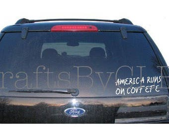 America Runs on Covfefe Decal