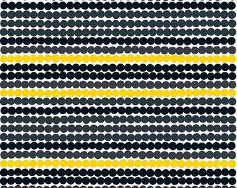 Round Oilcloth Tablecloth | Round Tablecloth | Black Yellow Round Oilcloth  | Oilcloth Marimekko Raymatto |