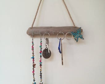 Driftwood key holder for wall driftwood wall art key holder