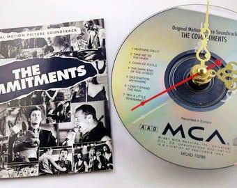 CD Clock The Commitments Soundtrack Handmade Clock FREE U.S. SHIPPING Unique Birthday Present Gift