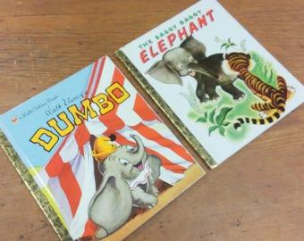 A Little Golden Book Dumbo, Saggy Baggy Elephant