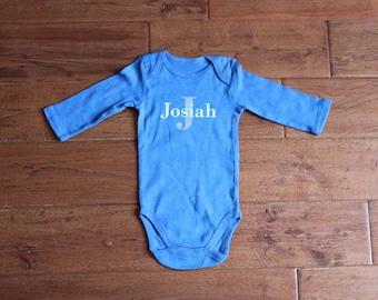 Long sleeve onesie etsy personalized baby onesie personalized onesie name onesie baby onesie baby bodysuit negle Images