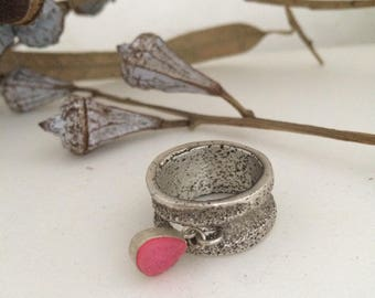 Silver and Druze handmade ring