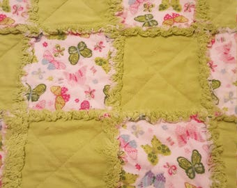 Baby Rag Quilt with free shipping