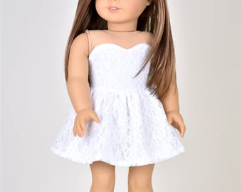 18 inch doll dress Simply White Dress