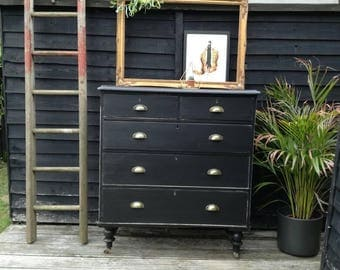 SOLD*** Antique vintage Victorian pine chest of drawers