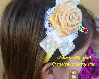 Hairband, hair band, headband, baby girl hairband, satin rose hairband, flower baby girl headband, girl hair accessory, baby girl ceremony