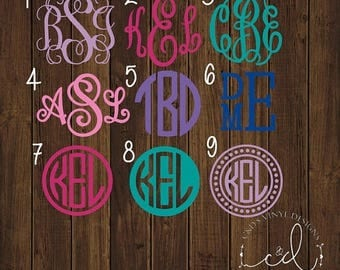 "ON SALE 99 CENT 2"" Monogram Car Decal - Monogram Decal - Sale Decals - Monogram Decals - Bow Decal - Flash Sale - 2"" Car Decals - 2"" Monogra"