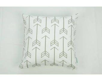 Throw Pillow Cover | Gray Arrows