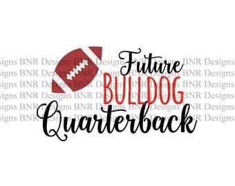 Future Bulldog Quarterback, Georgia SVG, DXF File, Vinyl SVG File, Cricut File, Cameo File, Silhouette File