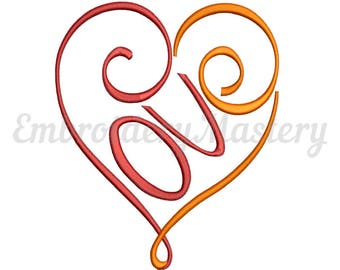 LOVE Embroidery Design. Love With Heart Embroidery.  Machine Embroidery. Love Embroidery.  Script Font Love.  Love Font Embroidery. 4 sizes