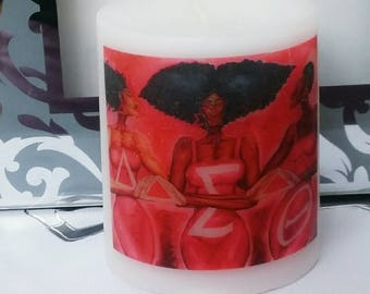 Designer Inspired Delta Sigma Theta Sorority Candle