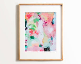 Abstract painting, Wall art, PRINTABLE art, Colorful art, Abstract print, Modern painting, Abstract art, Brushstroke art,Wall decor,Pink art