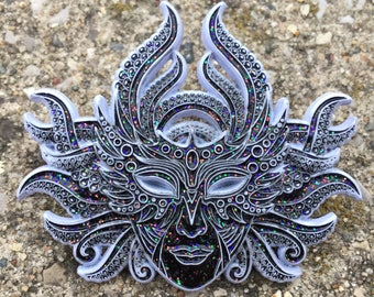 3d Masquerade Mask,NYE inspred hat pin.