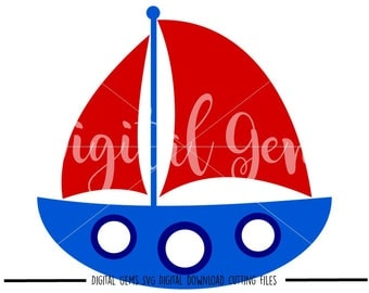 Sail boat svg / dxf / eps / png files. Digital download. Compatible with Cricut and Silhouette machines. Small commercial use ok.