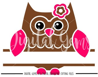 Owl, Split Owl, svg / dxf / eps / png files. Digital download. Compatible with Cricut and Silhouette machines. Small commercial use ok.