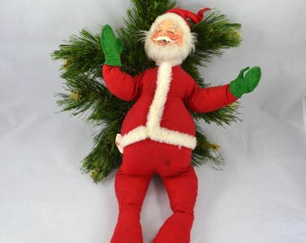 Vintage Annalee Mobilitee Posable Stuffed Santa From 1963