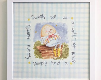Humpty Dumpty Print, Nursery Rhyme Print, Nursery Print, Humpty Dumpty, Egg, all the kings horses, Humpty Dumpty sat on a wall