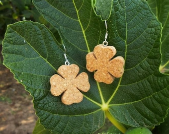 Cork Clover Earrings