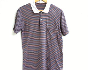 Vtg DUNHILL Striped Polo T-Shirt Size M