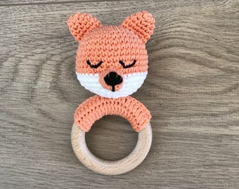 Teething Ring Rattle, Teething ring ,Rattle, Toys, Handmade Rattle, Amugurumi Rattle